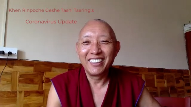 Geshe Tashi Tsering's Covid-19 Update 24th March