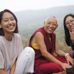 Photos of Geshe Tashi with his nieces and nephew